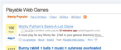 sej digg spamalotwebgame What Diggers (Did) Miss Out On